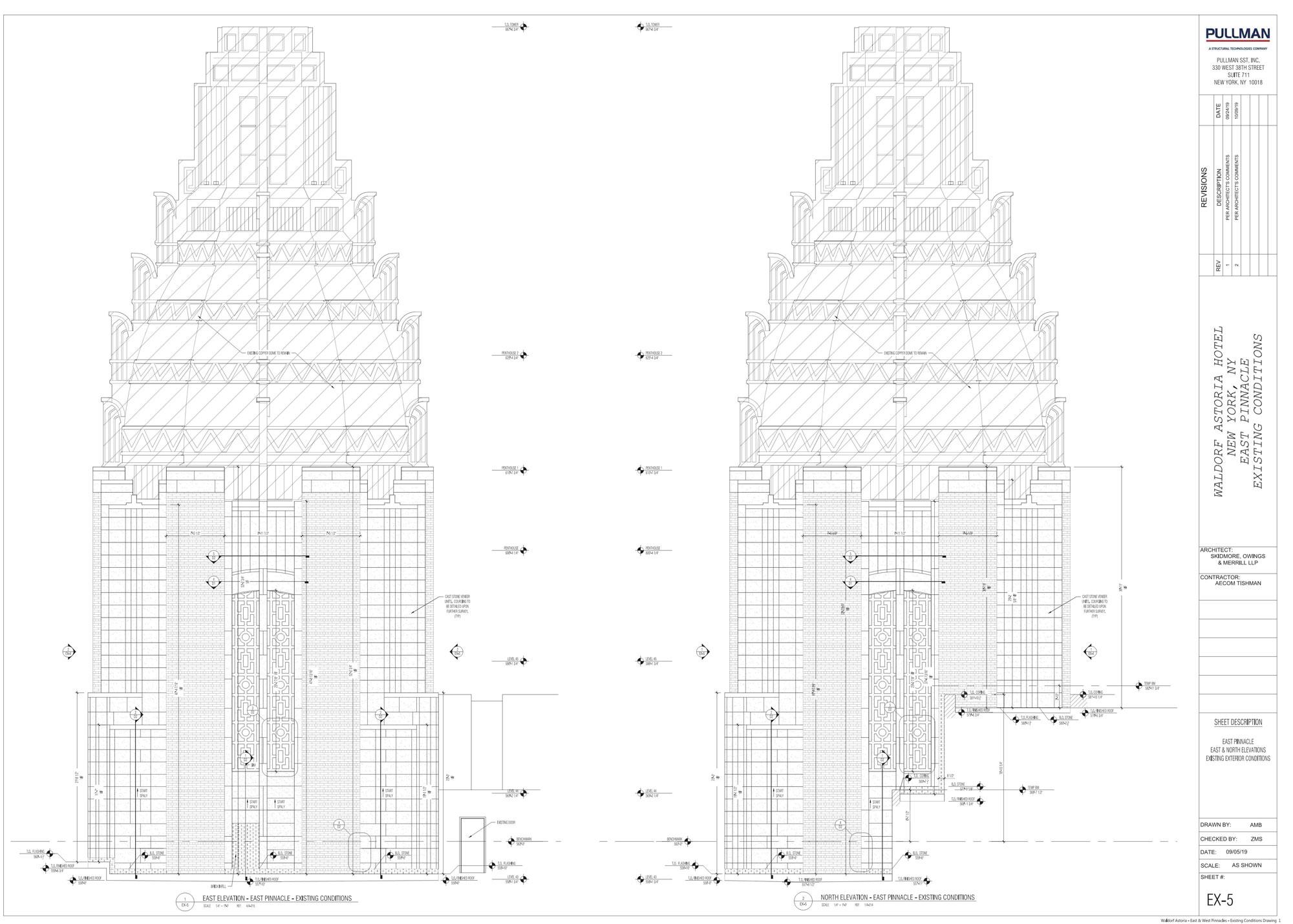 Waldorf Astoria Pinnacle Shop Drawing